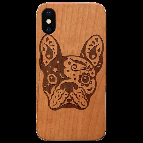 Bulldog - Eco-Friendly Wooden Engraved Phone case