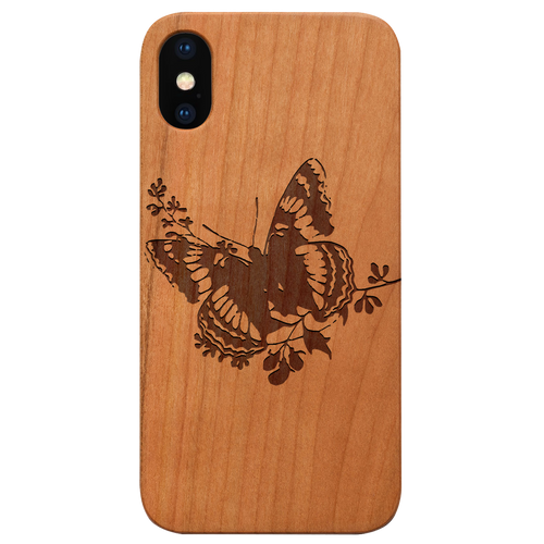 Butterfly 2 -  Eco-Friendly Wooden Engraved Phone case