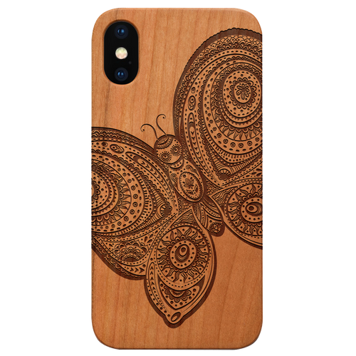 Butterfly 3 -  Eco-Friendly Wooden Engraved Phone case