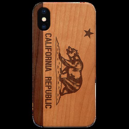 California Flag - Eco-Friendly Engraved Phone case