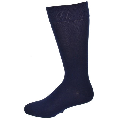 Dress Casual 2 Pair Pack Combed Cotton Crew Plain Color Socks