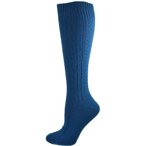 Classic Cable Knit Acrylic Knee High 3 Pair Pack Socks