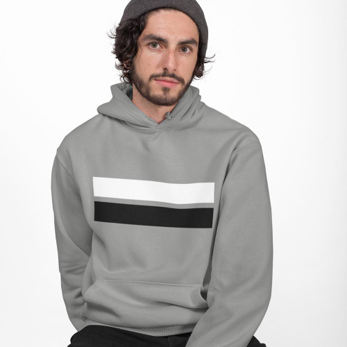 Mens Casual Stripes Classic Fit Hoodie