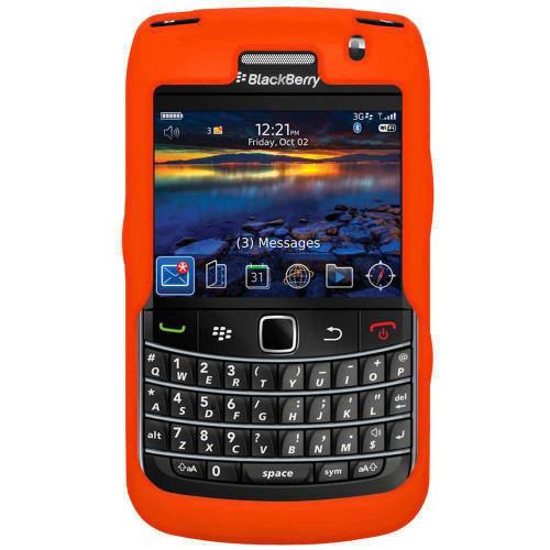 AMZER Silicone Skin Jelly Case for BlackBerry Bold 9700 - Orange