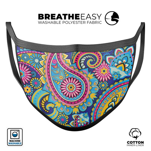 Popping Paisley - Mouth Cover Unisex Anti-Dust Cotton Face Mask