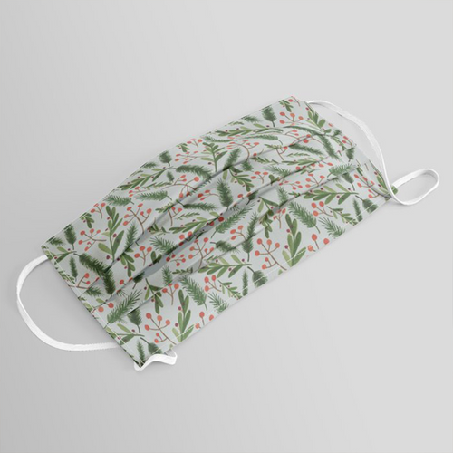 Machine-Washable Christmas Branch Face Mask