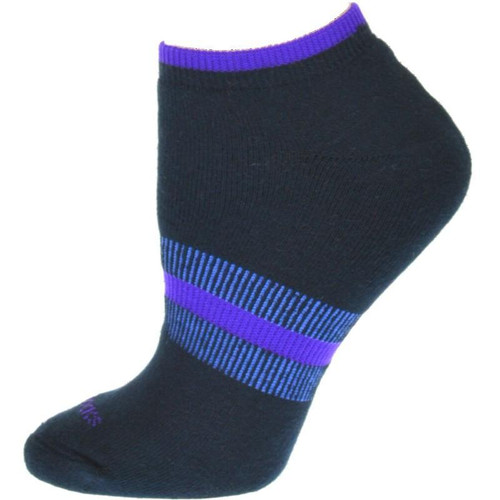Tipped Cushioned Arch Support No Show Performance Cotton Socks