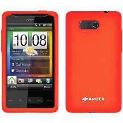 AMZER Silicone Skin Jelly Case for HTC HD Mini - Orange