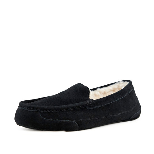 Men's Cosy Moccasin Slippers Toasty Black