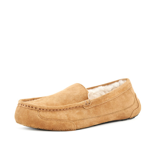 Men's Cosy Moccasin Slippers Toasty Camel