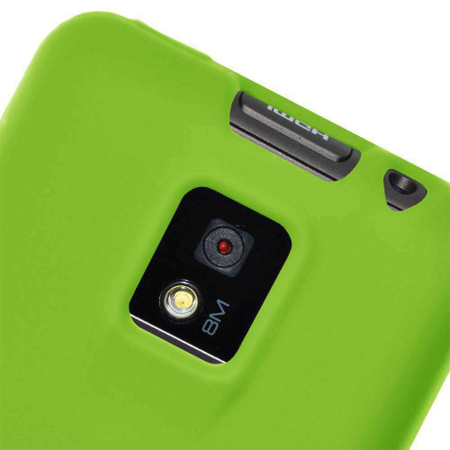 AMZER Silicone Skin Jelly Case Cover For LG G2x - Green