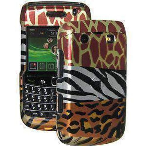 AMZER  Hard Case Cover For BlackBerry Bold 9700 - Multi-Animal Print
