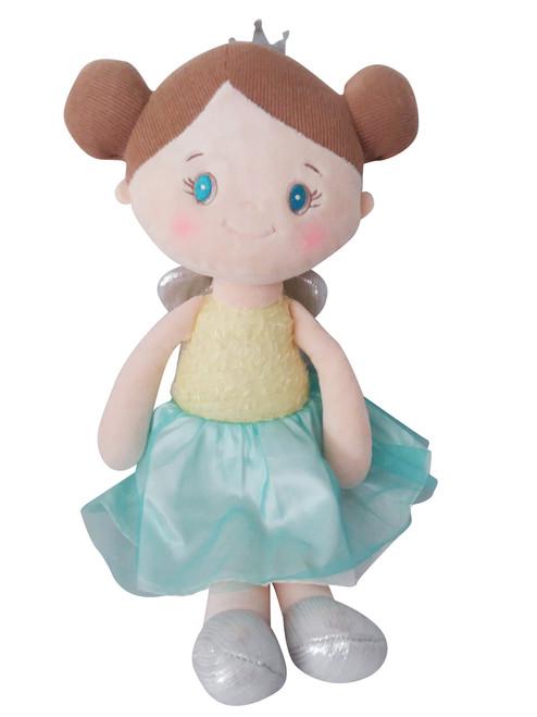 Beautiful Brown Hair Soft Callie the Princess Rag Doll