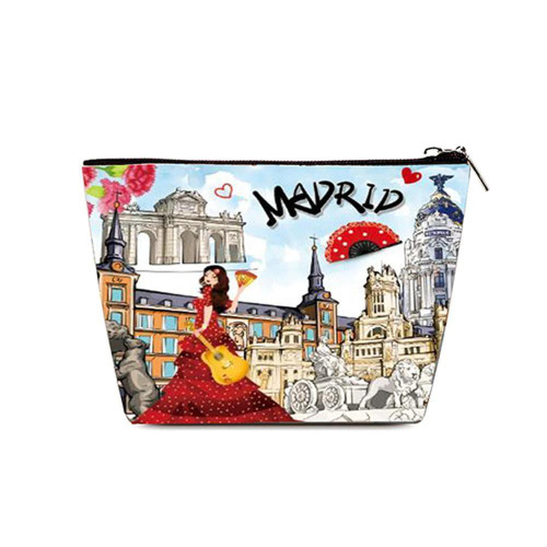 OH Fashion Cosmetic Bag Discovering Madrid