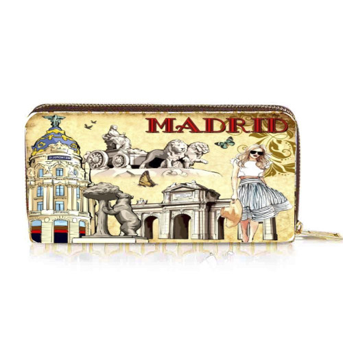 OH Fashion Wallet Chic Madrid 4 Credit Card Slots & an Inner Zipper