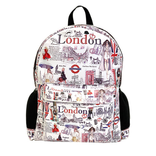 BackPack Travelling London Metallic Zipper With two Adjustable Straps