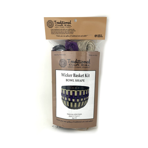Educational & Eco-Friendly Wicker Basket Kit - Bowl Shape