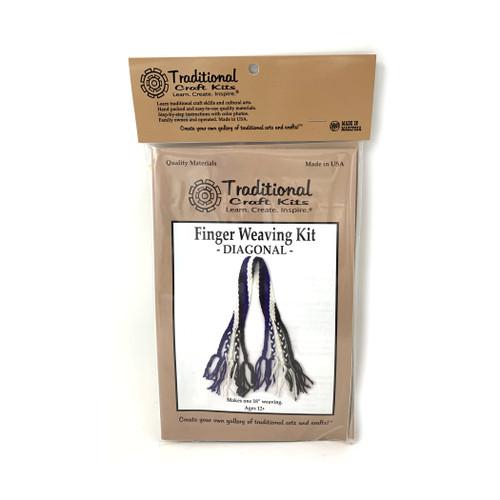 Educational & Eco-Friendly Finger Weaving Kit - Diagonal
