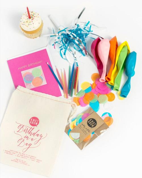 Multicolor Birthday in a Bag (Pink)