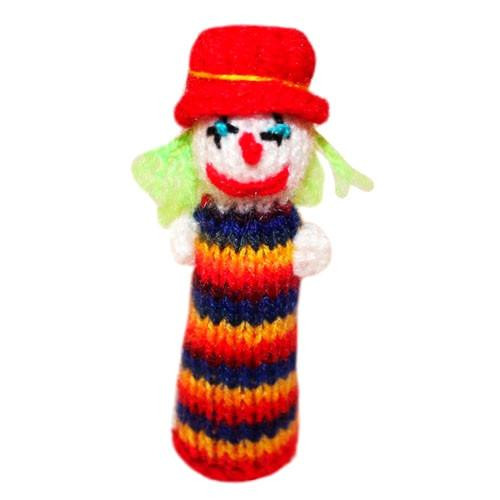 Handmade Beautiful Multicolor Happy Birthday Clown (rainbow)