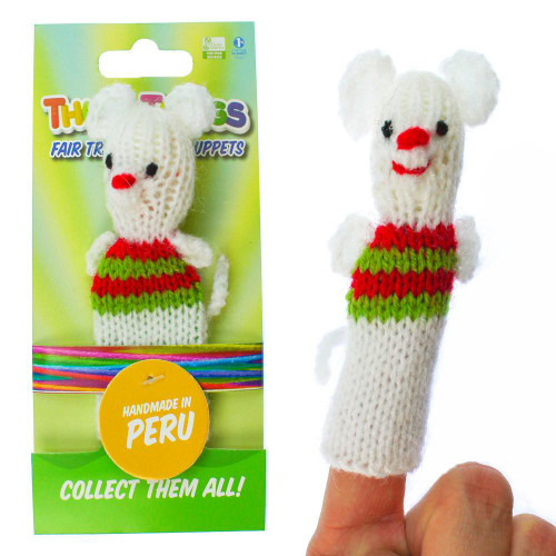 Beautiful Handmade Multicolor Holly Mouse Finger Puppet