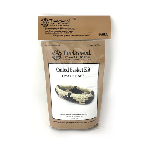 Educational & Eco-Friendly Coiled Basket Kit - Oval Shape