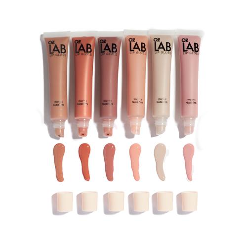 Nude Tinted Non-Sticky High - Shine Finish Lip Gloss - 6 Shades