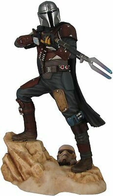 Gentle Giant Star Wars Premier Collection: The Mandalorian MK1 Statue, Multic...