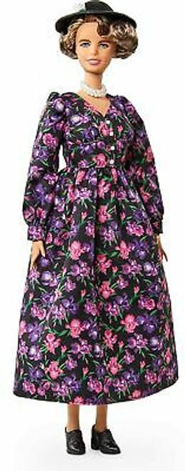 Barbie Inspiring Women Eleanor Roosevelt Doll 12-inch Wearing Floral Dress, w...