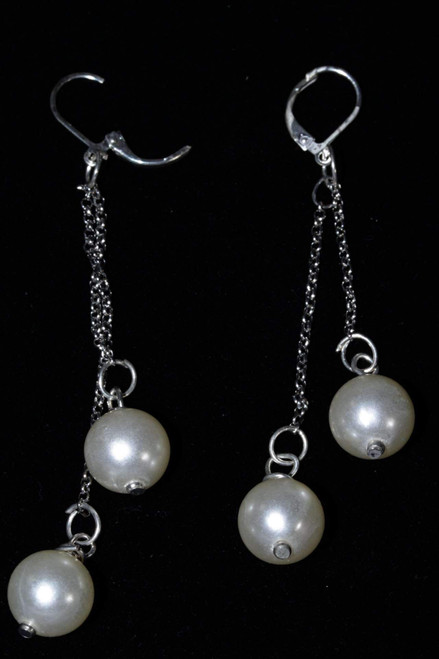 Beautiful and Graceful Faux Pearls Dangle Earrings