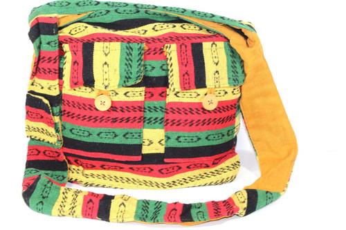 Gorgeous Handmade Rasta Vibes Durrie Sling Bag