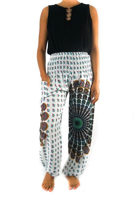 Comfortable & Stylish White Chakra Harem Hippie Boho Pants