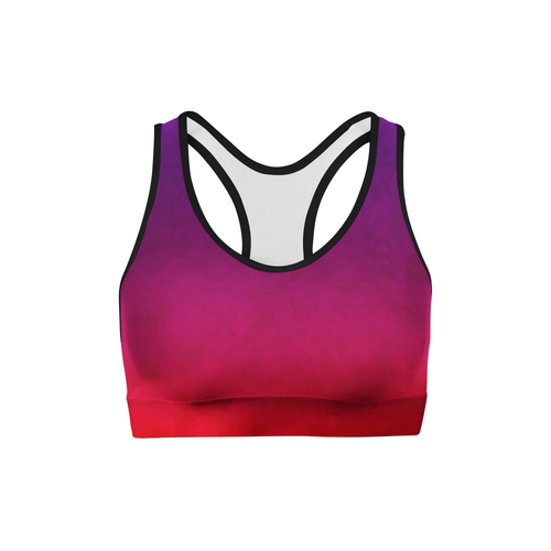 Stained Triangles Sports Bra- Stay Fit