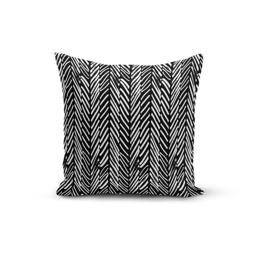 Abstract Lines Black Soft Pillow Cover