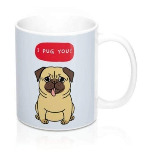Ceramic I PUG You Puppy Heat Sensitive Color Changing Mug