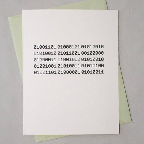Merry Christmas Binary Code Card