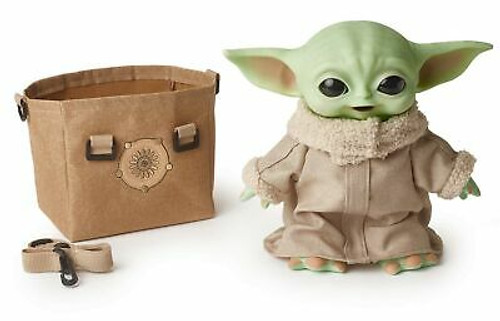 Star Wars The Child Plush Toy, 11-in Yoda Baby Figure from The Mandalorian, C...