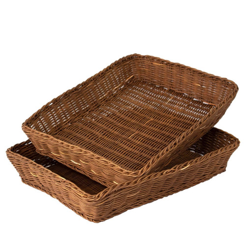 Rattan High Quality Wicker Woven Serving Tray Or Coffee Tray