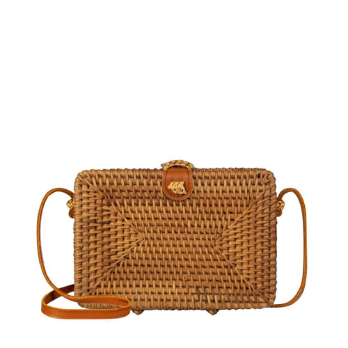Made Terra Square Crossbody Straw Rattan Summer Essential Hand Woven Wicker Bags For Women