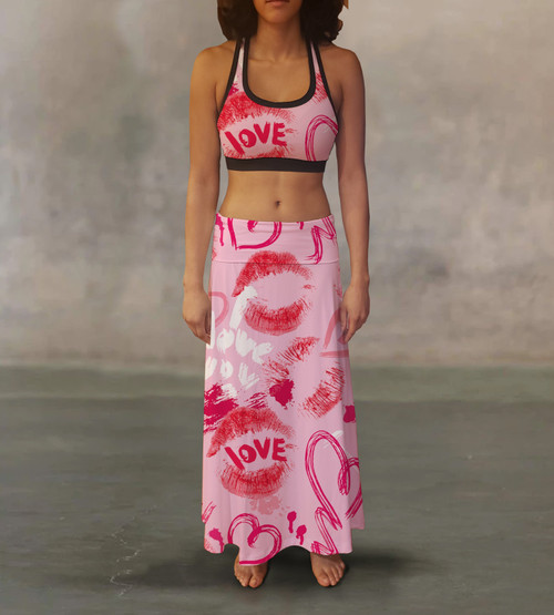 Love & Kisses Maxi Skirt For A Different Look
