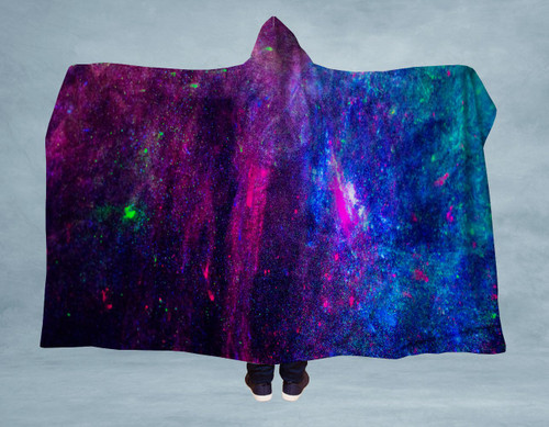 Neon Speckled Amazing Softest Hooded Blanket