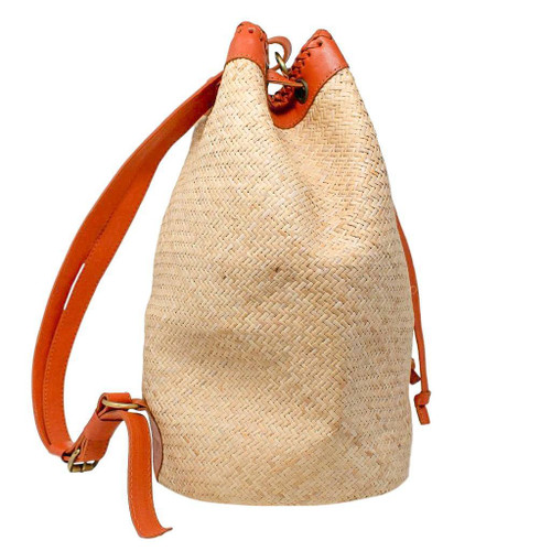 CALYPSO BACKPACK 100% Handwoven Straw Ata Leaf Natural Color