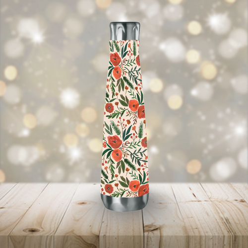 Christmas Floral Peristyle Reusable Water Bottle