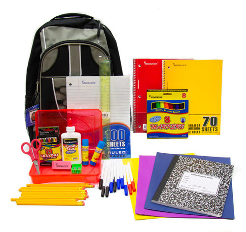 "17"" Elementary Backpack Kit - 1 SET 2-Pocket Folders Asst. Color"