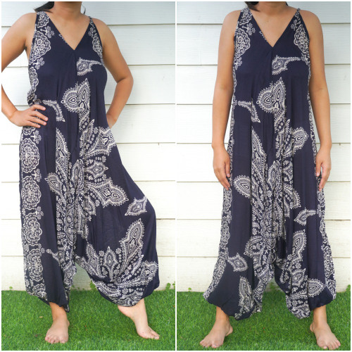 Blue Butterfly Festival Clothing Hippie & Boho Rompers