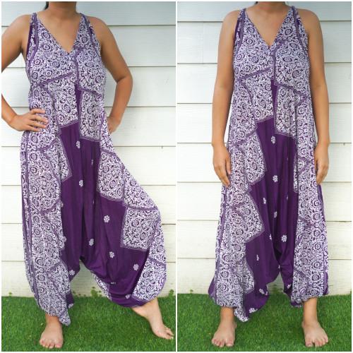Purple Lotus Hippie Boho Festival Clothing Rompers