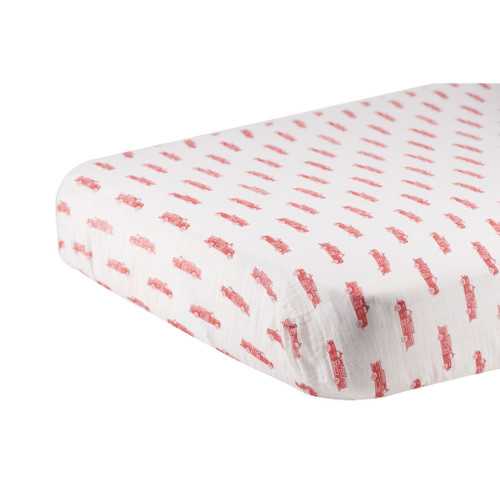 Fire Truck soft and Cozy Crib Sheet For Infants