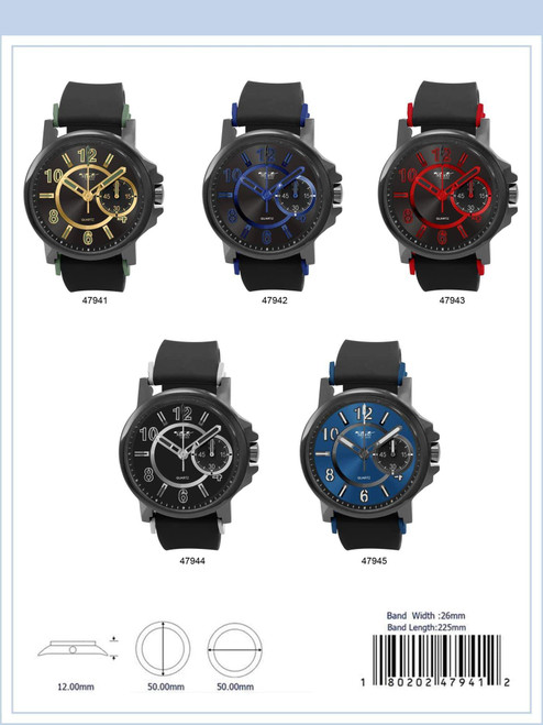 50MM Milano Expressions Silicon Band Watch