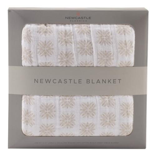 Traveler Dot Newcastle Blanket Natural Cotton Fibers