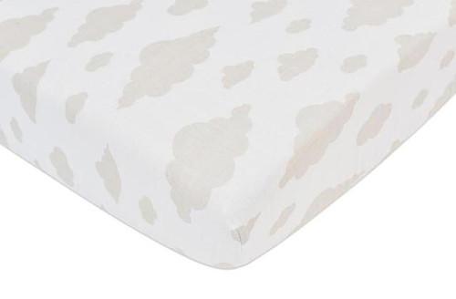 Cloud Crib Sheet Soft Breathable 100% Natural Cotton Muslin